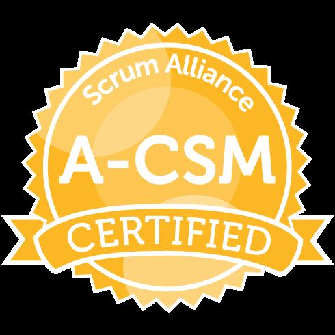 Certified Scrum Master by Scrum Alliance